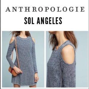 Sol Angeles Knit Cold Shoulder Dress